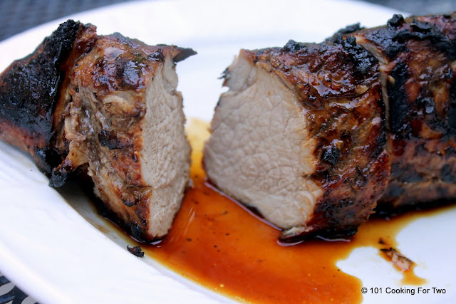 Grilled Balsamic Garlic Pork Tenderloin from 101 Cooking For Two