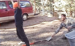 Dick of the week / Shovel Prank