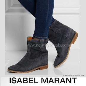 Crown Princess Mary Style ISABEL MARANT Suede Ankle Boots