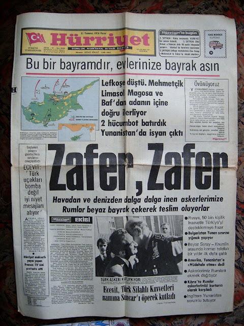Kıbrıs Barış Harekatı Gazete Haberi