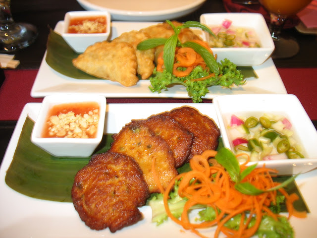 Thai style fish cakes at Golden Buddha!