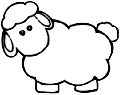 Baby animals coloring pages to kids for Lamb coloring page