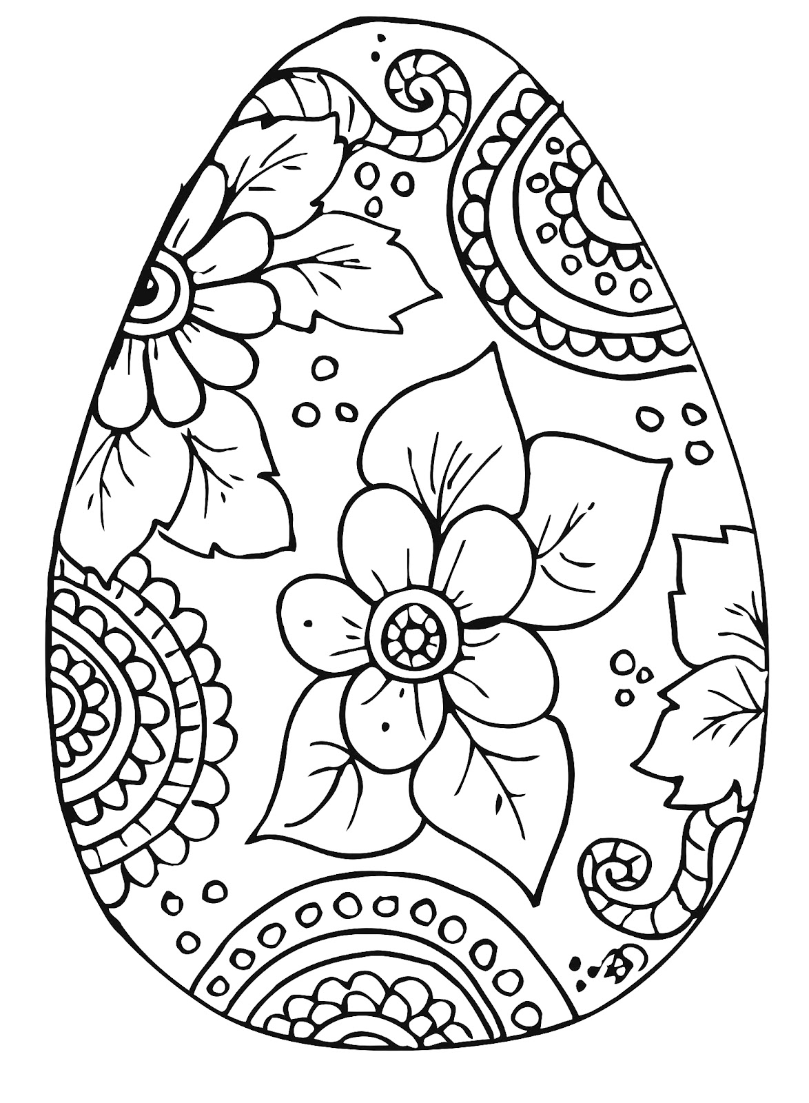 B d designs free coloring page easter kleurplaat pasen for Free easter coloring page