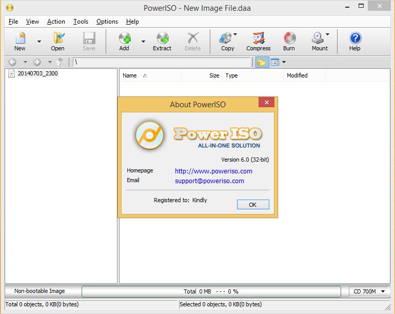 Free Download Power ISO 6.1 32Bit & 64Bit Terbaru Full