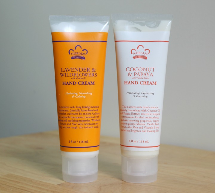 Nubian Heritage Body Care Lavender & Wildflowers and Vitamin E Hand Cream Coconut & Papaya with Vanilla Beans Hand Cream