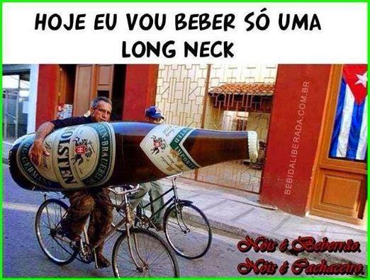 Hoje eu vou beber só uma lonk neck