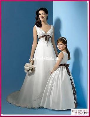 wedding dresses with color trim. Mini Bridal Wedding Dress 2011