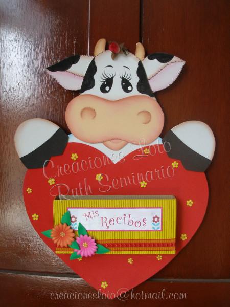 Vacas hechas con foami - Imagui