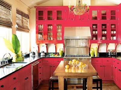 Pink Kitchen Cupboards