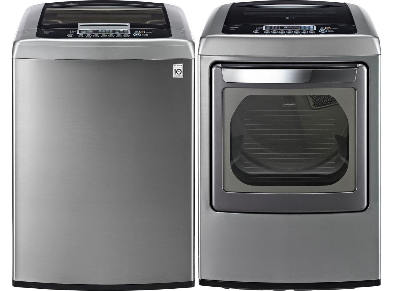 Lg all in one washer and dryer reviews - Lg Graphite 4 5 Cf Front Control Top Load Washer And 7 3 Cf Steam Electric Dryer