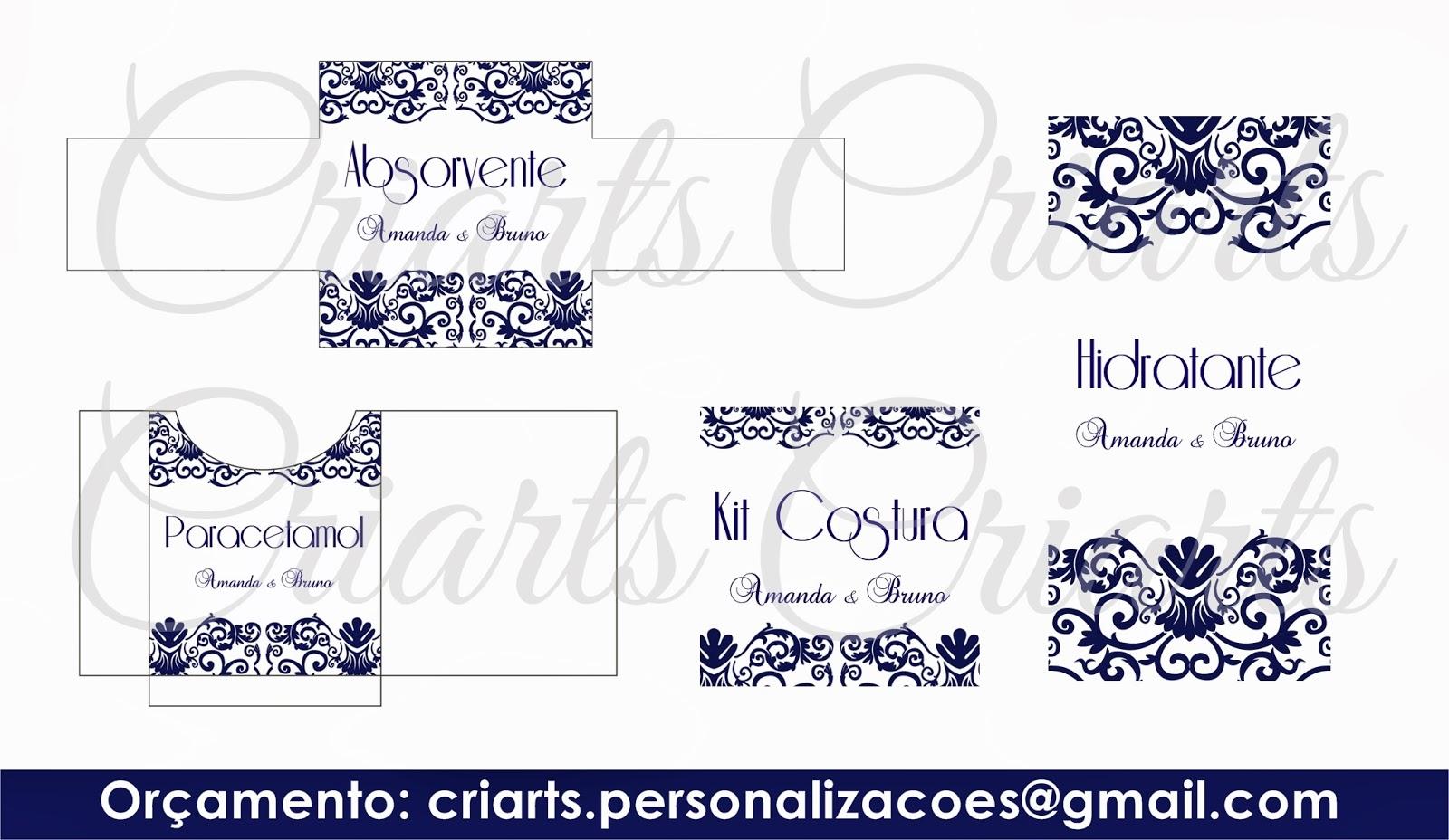 Criarts Personalizações: Kit Banheiro Azul Marinho #0B0D49 1600x928 Banheiro Azul Marinho