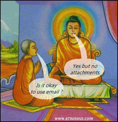 Buddha advice on emails