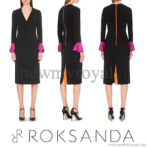 Sophie, Countess of Wessex style ROKSANDA Contrast Cuff Crepe Dress