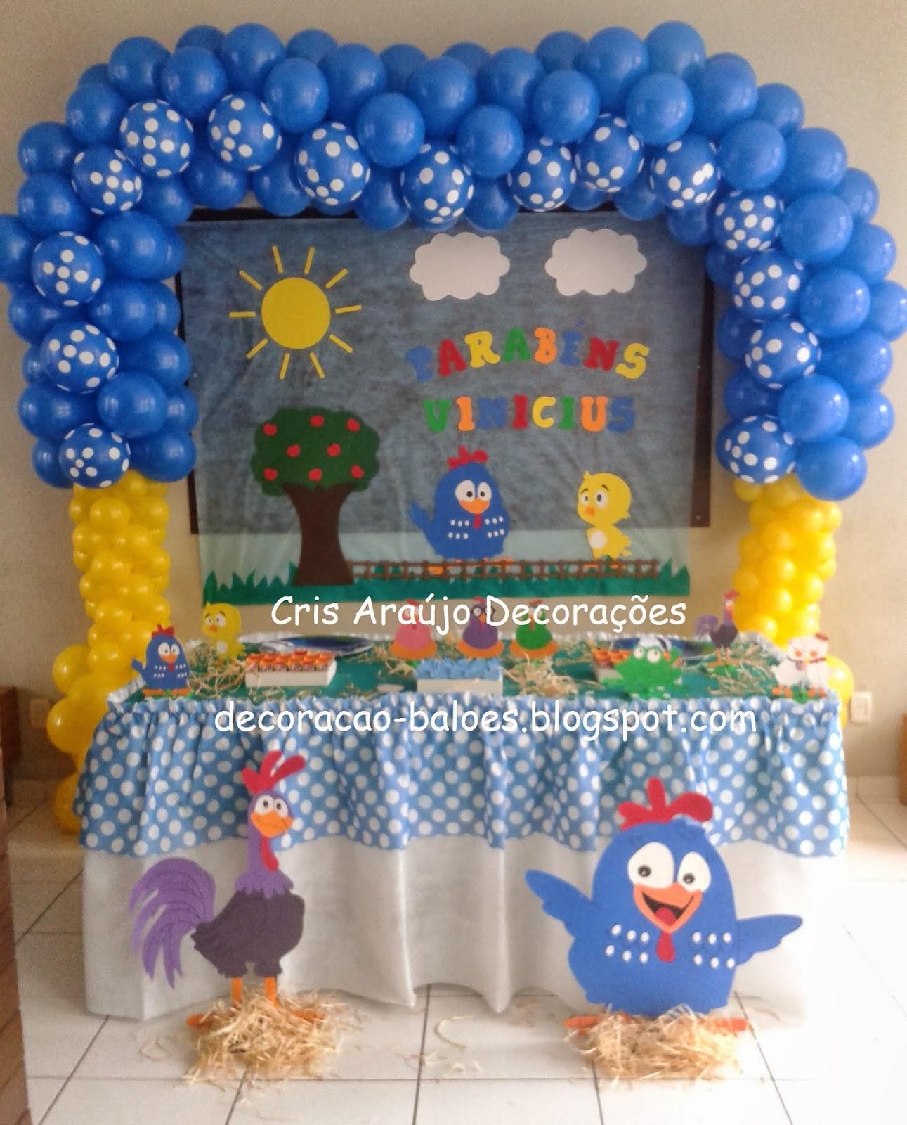 Decoração Com Eva ~ Arte com balões e EVA Decoraç u00e3o com balões e EVA Galinha Pintadinha