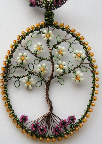 Unique wire wrapping artwork easy arts and crafts ideas for How to make a wire tree of life sculpture