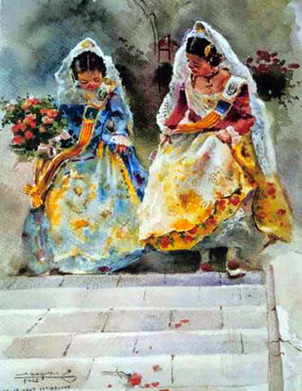 Valencianas pintadas rafael sempere - Pintor valenciano ...