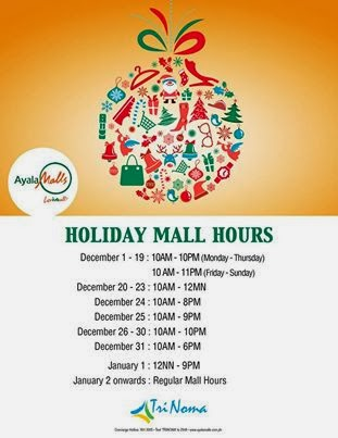Manila Shopper Major Malls Amp Theme Parks Holiday Schedule 2013