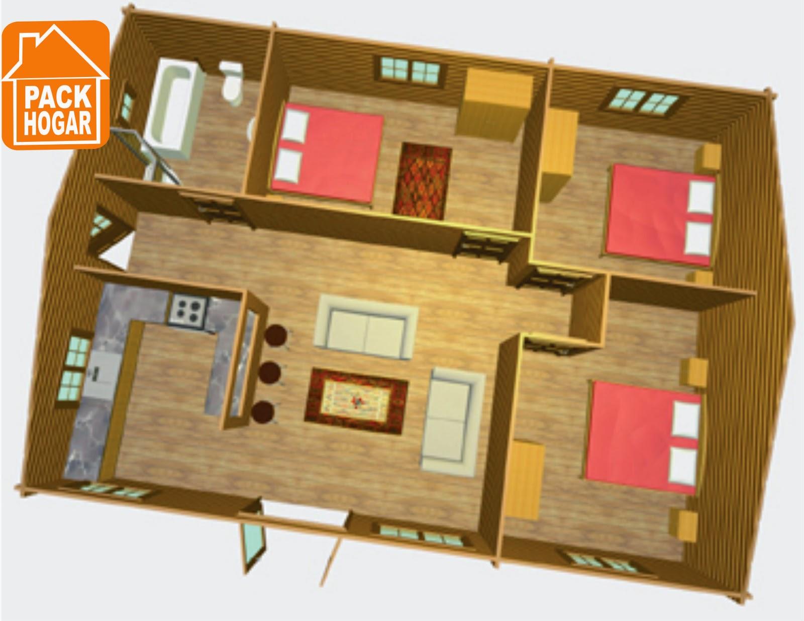 Casas de madera prefabricadas planos asesoria tecnica for Planos de madera