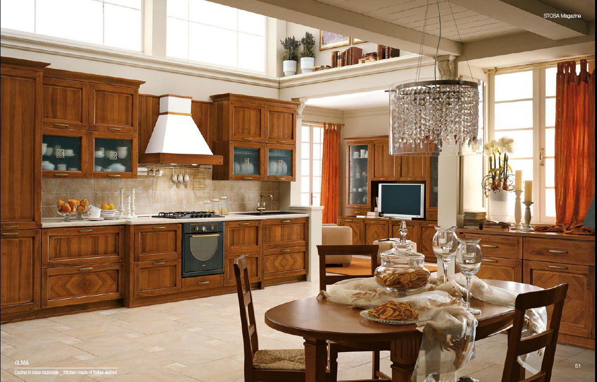 Home interior design decor classical style kitchens for Italian kitchen cabinets