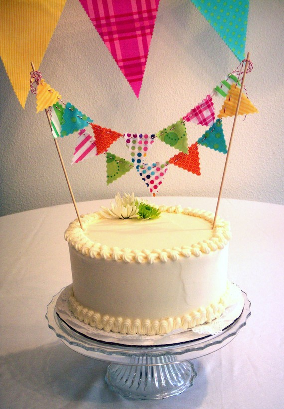 Make Bunting Cake Topper
