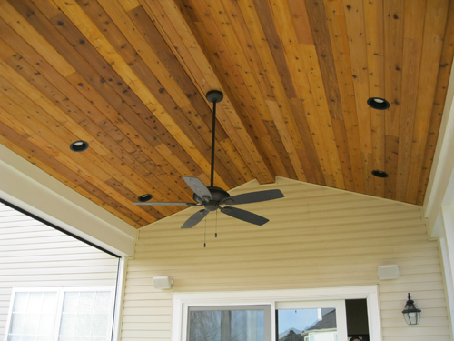 Outdoor Room Ceiling Material Preparation