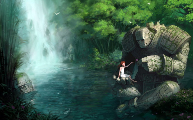 Denan oyi cool nature wallpaper backgrounds this is the fantastic waterfall fairy nature cool wallpaper background voltagebd Gallery