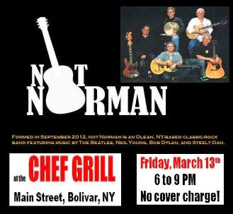 3-13 Live Music At Chef Grill