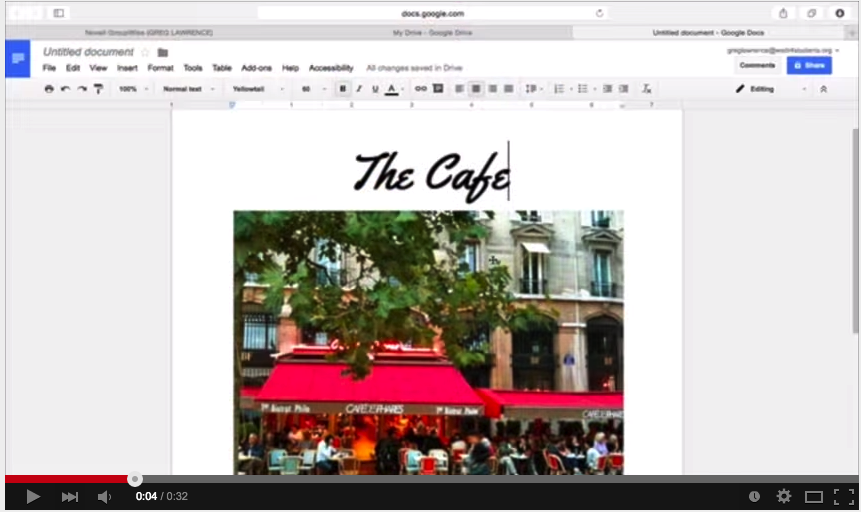 how to add accents on google drive