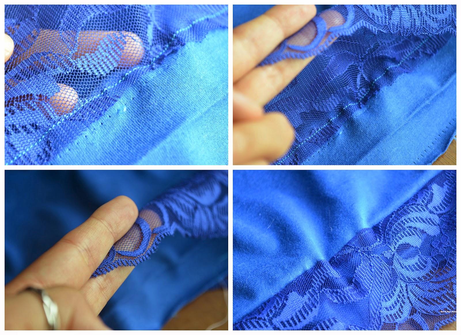 Camiseta Customizada como ficará a costura quando você virar