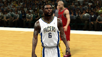 NBA 2K13 Lance Stephenson Cyberface Patch