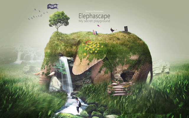 Elephascape - My secret playground photo manipulation
