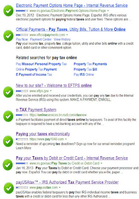 Bing search for taxes