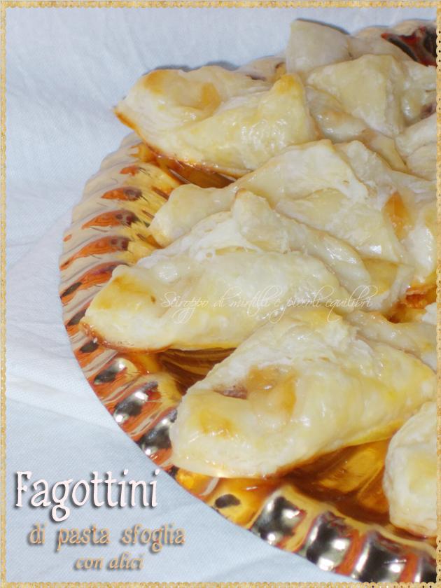 Fagottini di pasta sfoglia con alici