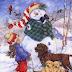 Παίζοντας με τον χιονάνθρωπο!