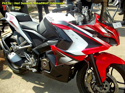 Red Color Bajaj Pulsar 200 SS - Spy Photo