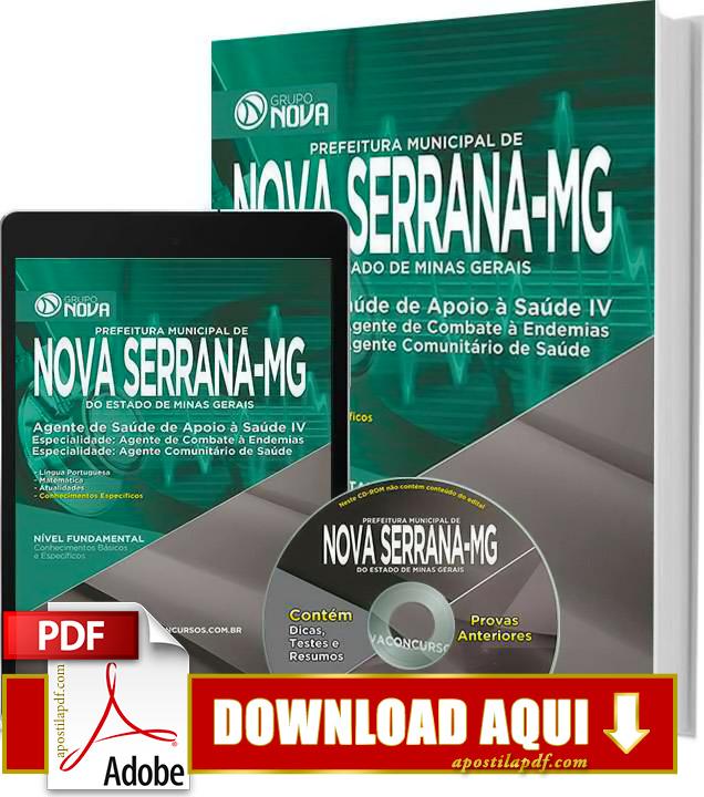 Apostila Prefeitura Nova Serrana MG 2015 Agente de Combate às Endemias Impressa PDF Grátis Download