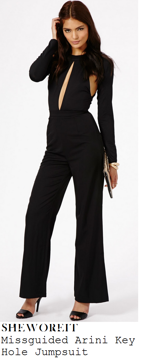 danielle-armstrong-black-long-sleeve-keyhole-cut-out-wide-leg-jumpsuit