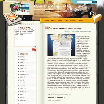 Mysterious Villages of Fiji blogger template