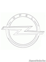 Kids Coloring Opel Logo