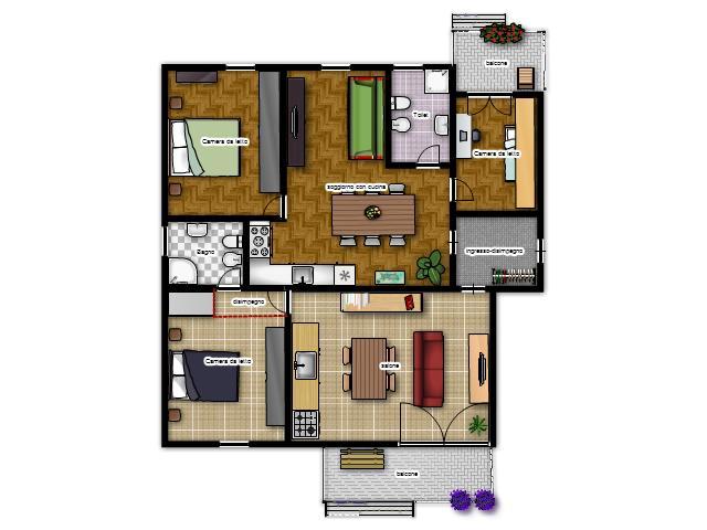 La casa in vetrina soluzioni salvaspazio ricavare una for Piccole planimetrie della casa con 3 camere da letto
