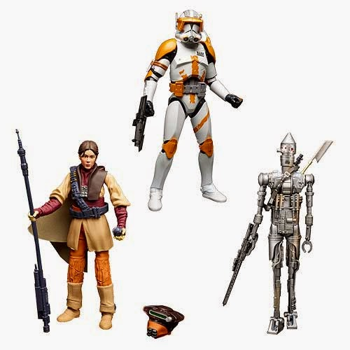 "Star Wars Black Series Wave 9 6"" Action Figures by Hasbro - Princess Leia in Boushh Disguise, IG-88 & Commander Cody Clone Trooper"