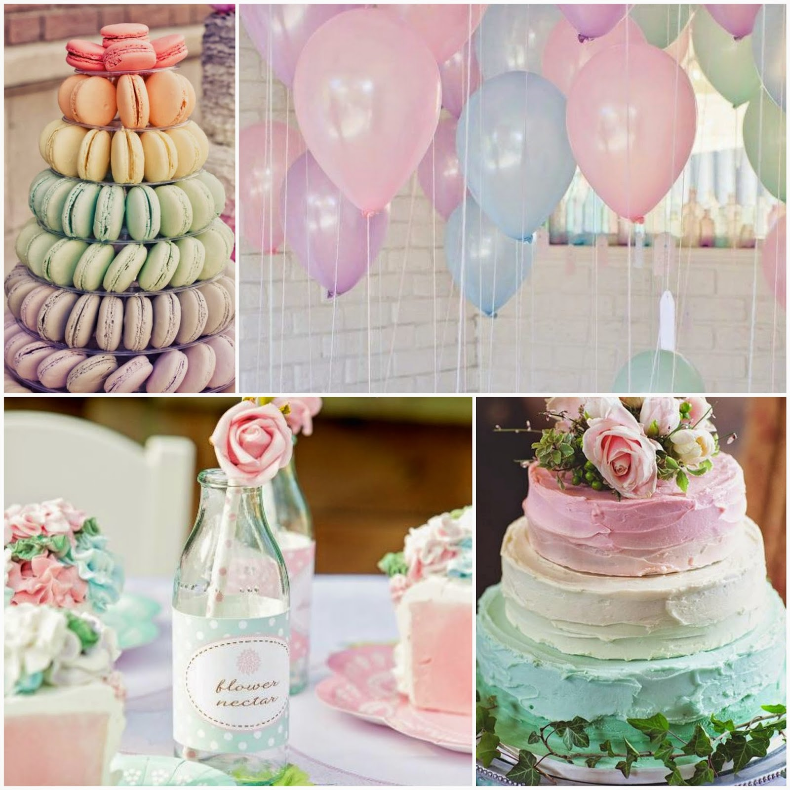 Combinación de colores para la decoración de la boda del verano temático