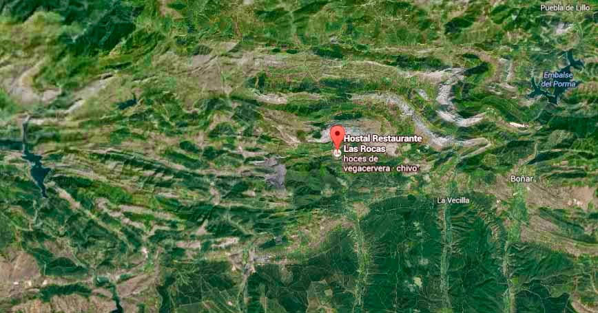Restaurante-LasRocas-Vegacervera-Leon-Mapa