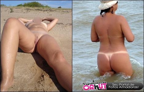 Nua Em Publico Nas Praias Etc Super Gostosa Marquinhas De Biquini