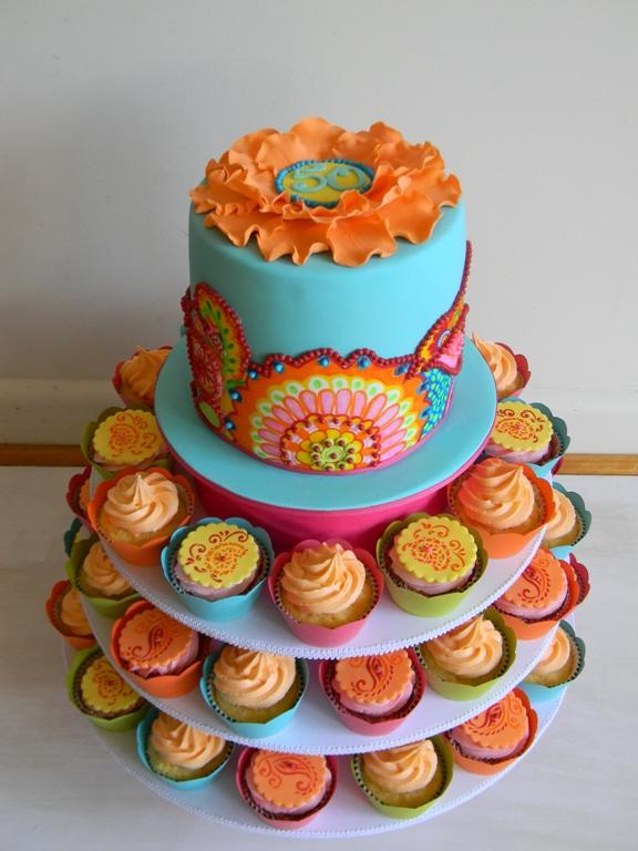 Paisley Edible Cake Decorations