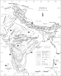Physical Features Map of india