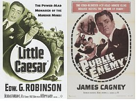 1931: Edward G. Robinson is Little Caesar & James Cagney is The Public Enemy with Jean Harlow