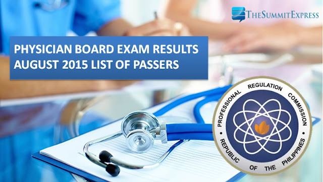 August 2015 Physician (Medicine) board exam