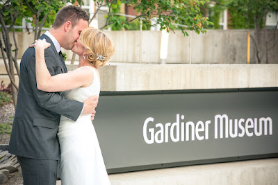 Wedding Couple outside the Gardiner Museum in Downtown Toronto 2015