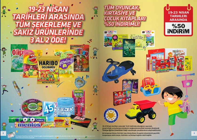 Tansaş 19-23 Nisan 2014 Tarihlerinde Güncel Broşür, Katalog ve İndirimler Tüm Şekerleme Ürünlerinde 3 Al 2 öde Tüm Oyuncak Kırtası Ve Cocuk Kitaplarinda %50 İndirim var